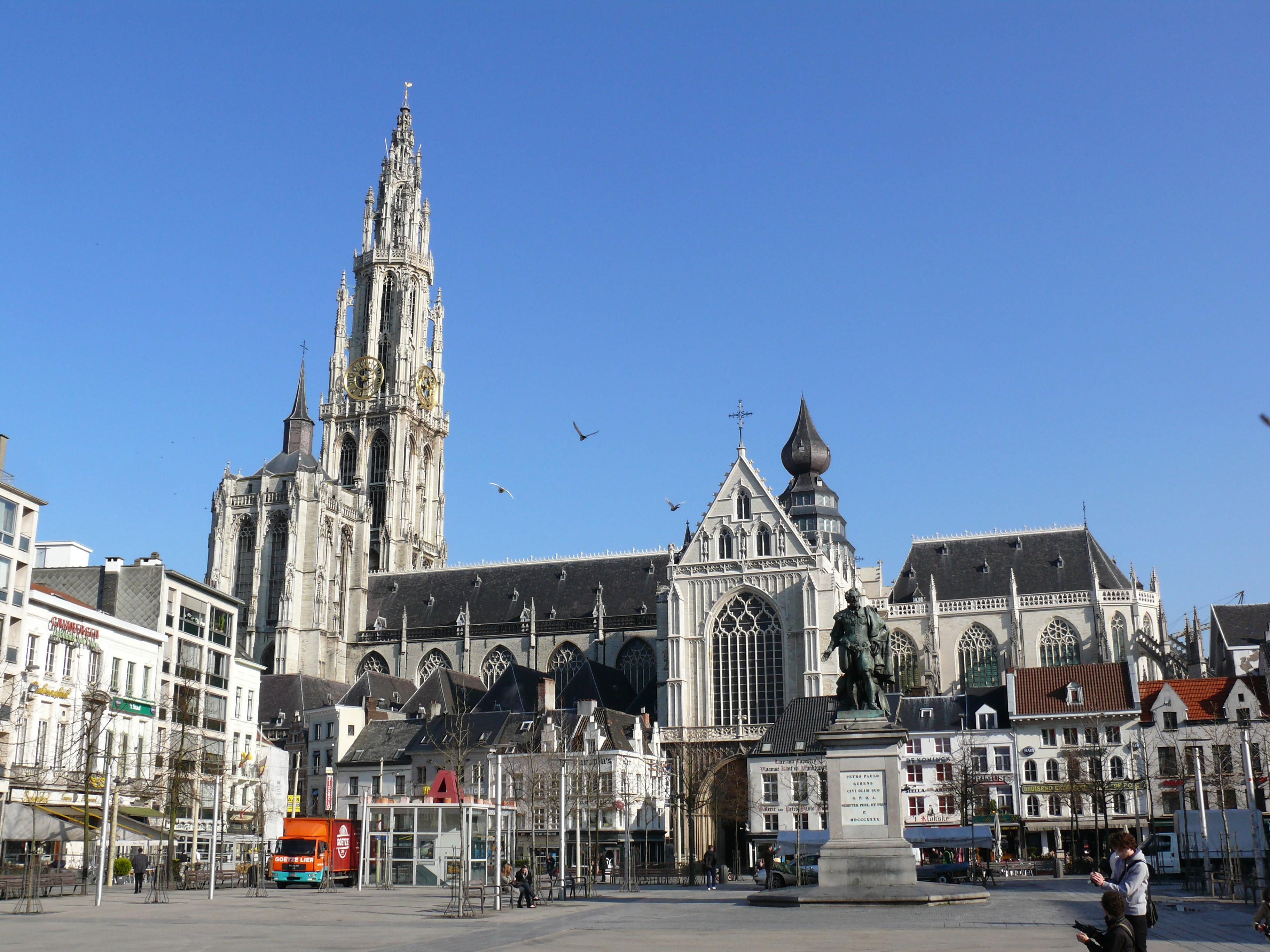 vakantie dagje weg Antwerpen kathedraal